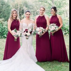 Levkoff wine bridesmaid dress size 10